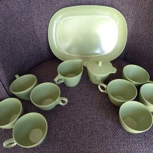 vintage melamine melmac tea/coffee set